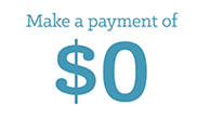 Make a Payment of $0